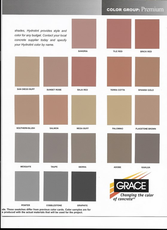 Solid Ground Standard Color Chart